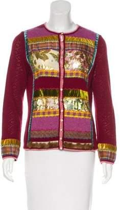 John Galliano Wool & Angora-Blend Cardigan