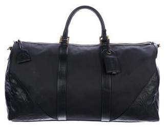 Chanel Canvas Quilted Duffel Bag