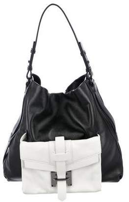 Halston Colorblock Leather Hobo