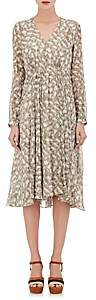 Derek Lam WOMEN'S BEI PYTHON-PRINT SILK MIDI-DRESS-NATURAL SIZE 40 IT