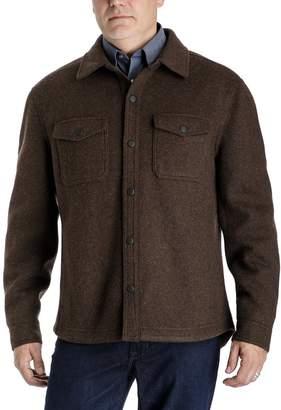London Fog Tower By Men's Tower by Regular-Fit Wool-Blend Fleece Shirt