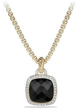 David Yurman Albion® Pendant With Black Onyx And Diamonds In 18K