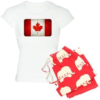 Royal Lion Women's Light Pajamas Canadian Canada Flag Grunge