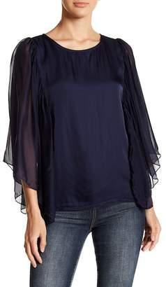 Luma Sheer Bell Sleeve Blouse