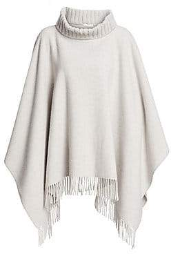 Fabiana Filippi Women's Virgin Wool, Silk & Cashmere Fringe Poncho