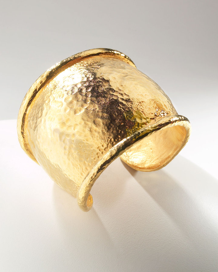 Jose & Maria Barrera Hammered Gold Cuff