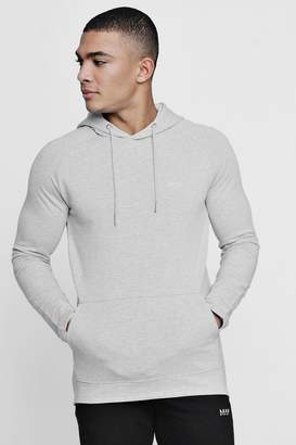 boohoo Active Over The Head Embroidered Gym Hoodie