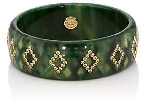 Mark Davis Women's Bakelite & Yellow Sapphire Bangle-Green