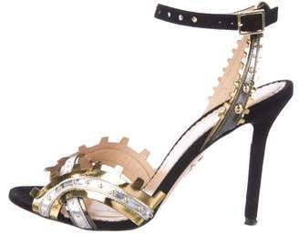 Charlotte Olympia High Gear Metallic Sandals