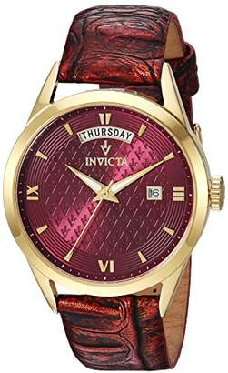 Invicta Women's 'Vintage' Quartz Stainless Steel and Leather Casual Watch