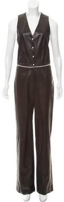 Chanel Embellished Lambskin Jumpsuit