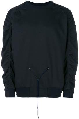 Jil Sander gathered drawstring sweatshirt