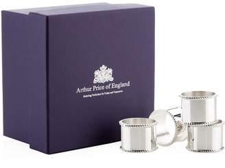 Arthur Price Of England Mounted Napkin Rings (Set of 4)