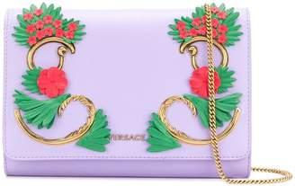 Versace foldover floral shoulder bag