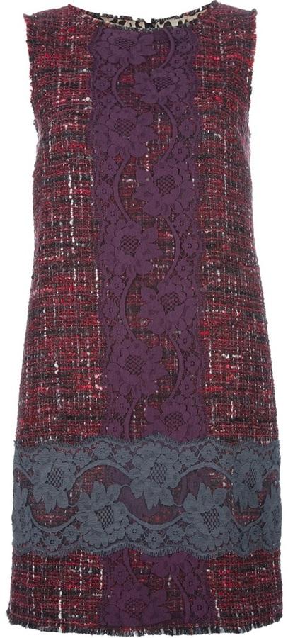 Dolce & Gabbana bouclé knit and lace dress
