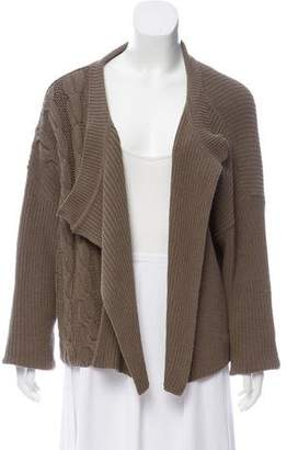 Ivan Grundahl Cable Knit Open-Front Cardigan