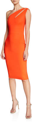 Chiara Boni Anisette One-Shoulder Body-Con Dress with Cutout