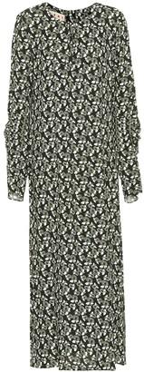 Marni Floral-printed crepe dress