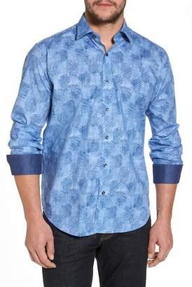 Bugatchi Regular Fit Checkerboard Sport Shirt