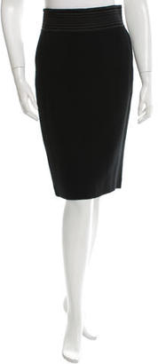 Jean Paul Gaultier Satin-Accented Pencil Skirt $75 thestylecure.com