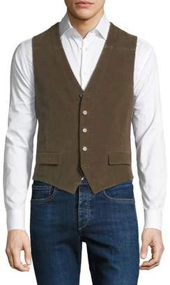 Stefano Ricci Men's Corduroy Button-Front Waistcoat Vest