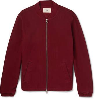 Folk Garment-Dyed Cotton-Twill Bomber Jacket