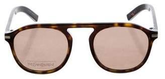Saint Laurent Round Tinted Sunglasses w/ Tags