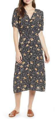 Hinge Floral Midi Shirtdress
