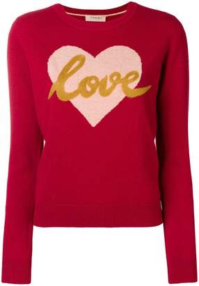 Twin-Set love knitted jumper