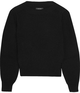 Isabel Marant - Fidji Ribbed Cotton-blend Sweater - Black $640 thestylecure.com