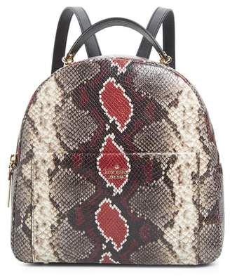 Kate Spade Reese Park - Ethel Snake Embossed Leather Backpack
