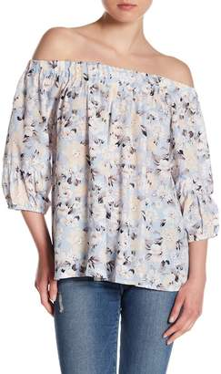 Skies Are Blue Floral Off-the-Shoulder Blouse