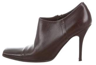 Prada Leather Ankle Booties