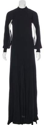 Yigal Azrouel Cape-Overlay Silk Gown w/ Tags