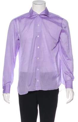 Isaia Woven Button-Up Shirt