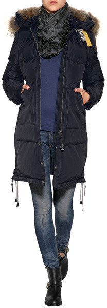 Parajumpers Long Bear Down Coat in Navy