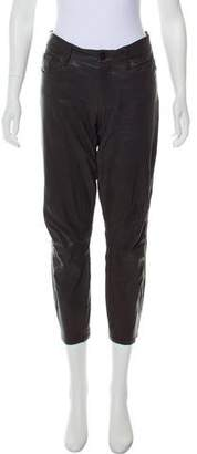 Frame Mid-Rise Leather Pants