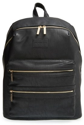 Infant Girl's The Honest Company 'City' Faux Leather Diaper Backpack - Black $149.99 thestylecure.com