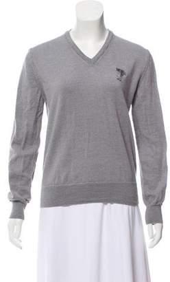 Versace Knit V-Neck Sweater