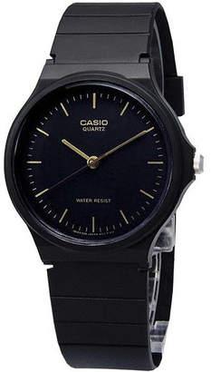 Casio Mens Black Dial Black Resin Strap Watch MQ24-1ELLUB