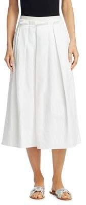 Fabiana Filippi Cotton-Linen Blend A-Line Skirt