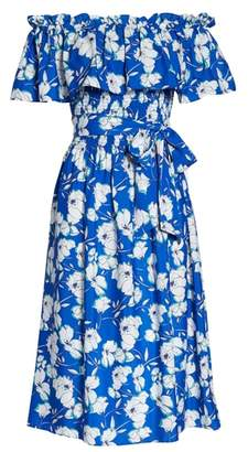 Eliza J Eliza Off the Shoulder Midi Dress