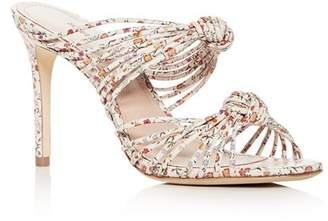 Schutz Women's Chandra Leather Strappy High-Heel Slide Sandals