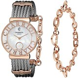 Charriol レディースst30pc560014 St Tropezアナログディスプレイスイスクォーツシルバー腕時計