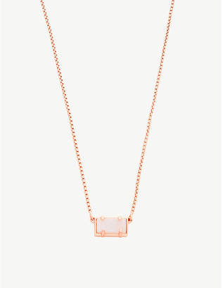 Kendra Scott Pattie 14ct rose gold-plated and iridescent drusy necklace