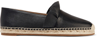 Michael Kors Collection - Laticia Ruffled Leather Espadrilles - Black $275 thestylecure.com