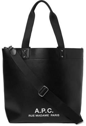 A.P.C. Eddy Logo-Print Faux Leather Tote Bag