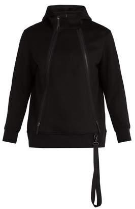BLACKBARRETT by NEIL BARRETT Zip Through Jersey Hooded Sweatshirt - Mens - Black