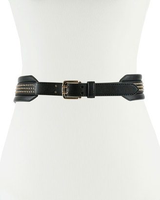Neiman Marcus Studded Faux-Leather Waist Belt $40 thestylecure.com