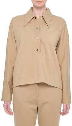 Tibi Bond Stretch Knit Dolman Sleeve Top